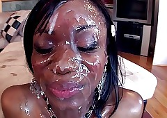 black girls bukkake videos